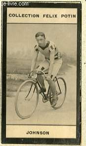 PHOTO ANCIENNE JOHNSON SPORT VELOCIPEDIE DES ETATS-UNIS