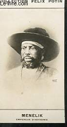 PHOTO ANCIENNE MENELIK SOUVERAIN ABYSSINIE