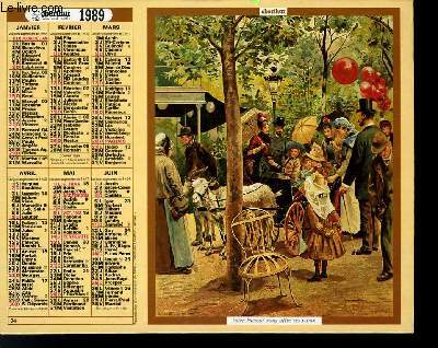CALENDRIER - ALMANACH DES  P.T.T. - REPRODUCTION CHROMOLITHOGRAPHIES