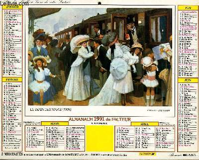 Calendrier Poste.Calendrier Almanach Du Facteur La Maille Poste Le Train Des Maris
