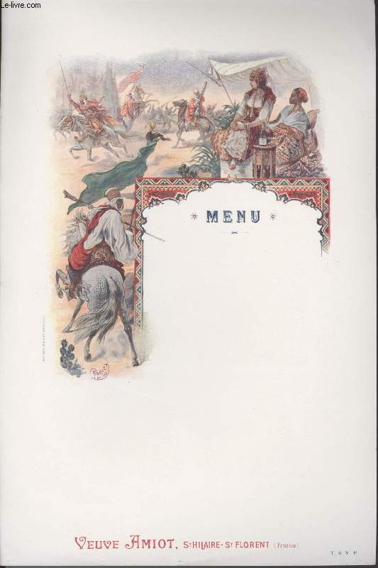 MENU - VEUVE AMIOT