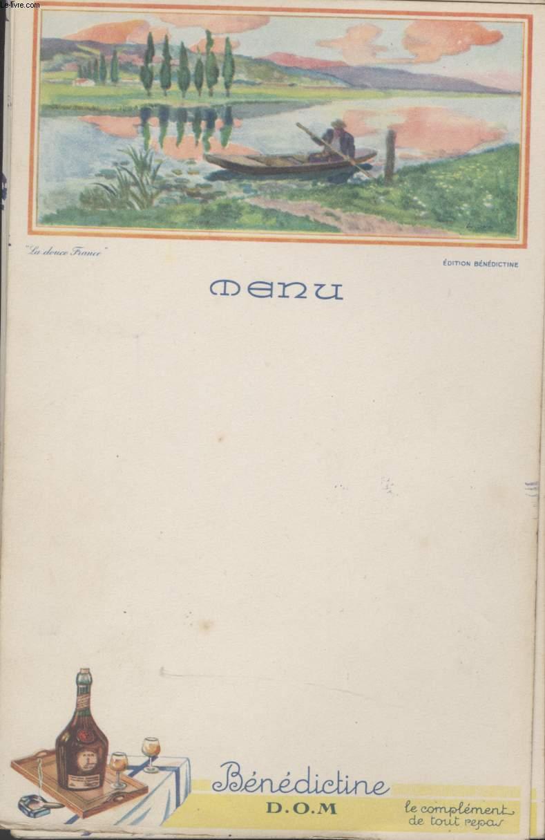 MENU - LA DOUCE FRANCE