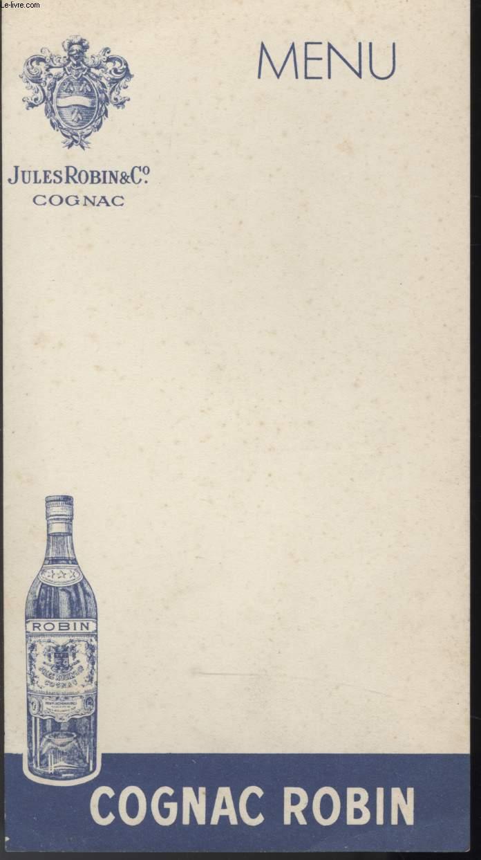 MENU - COGNAC ROBIN