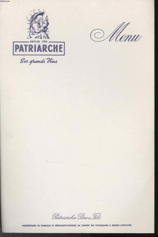 MENU - PATRIARCHE