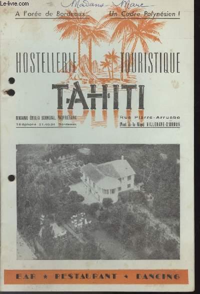 MENU - MARIAGE TAHITI