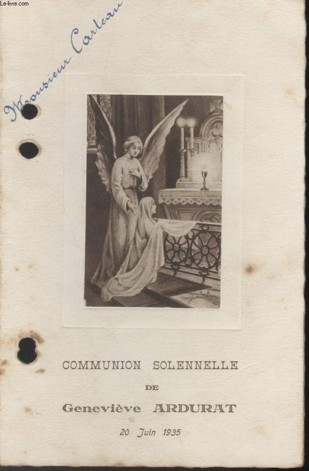 MENU - COMMUNION SOLENNELLE