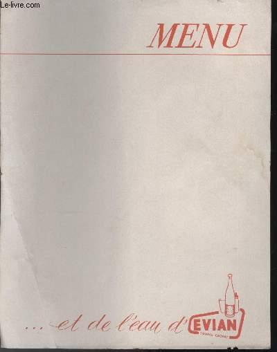 MENU - EVIAN