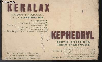 BUVARD - KERALAC KEPHEDRYL