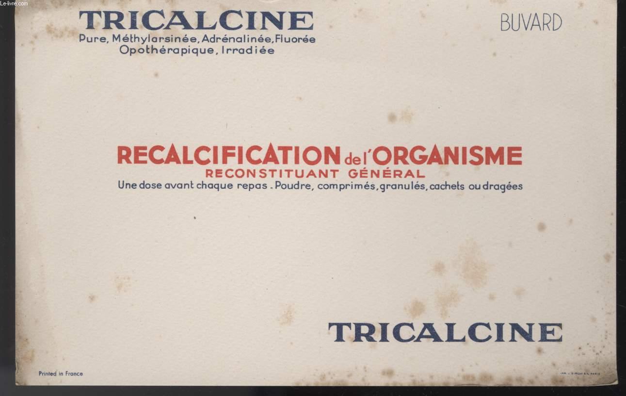 BUVARD - RECALCIFICATION DE L'ORGANISME