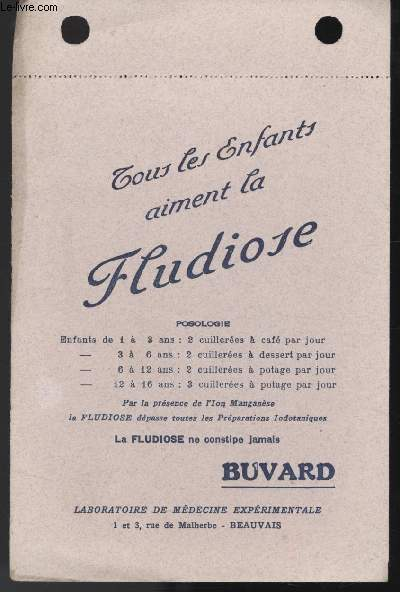 BUVARD - FLUDIOSE