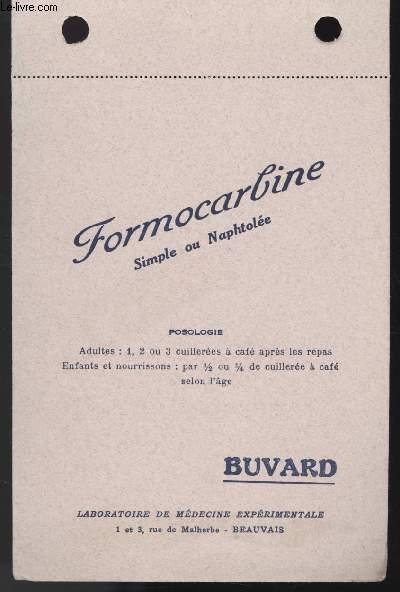 BUVARD - FORMACARLINE