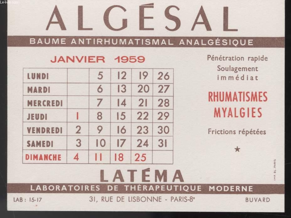 BUVARD - ALGESAL