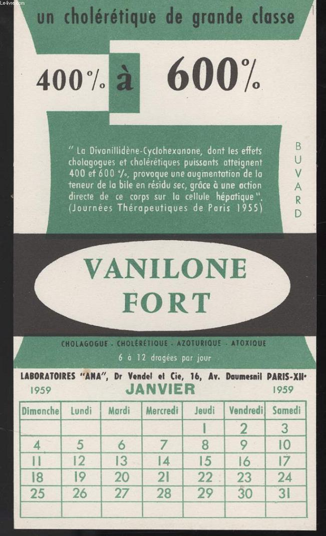 BUVARD - VANILONE FORT