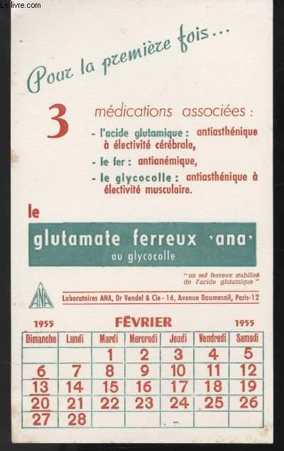 BUVARD - LE GLUTAMATE FERREUX