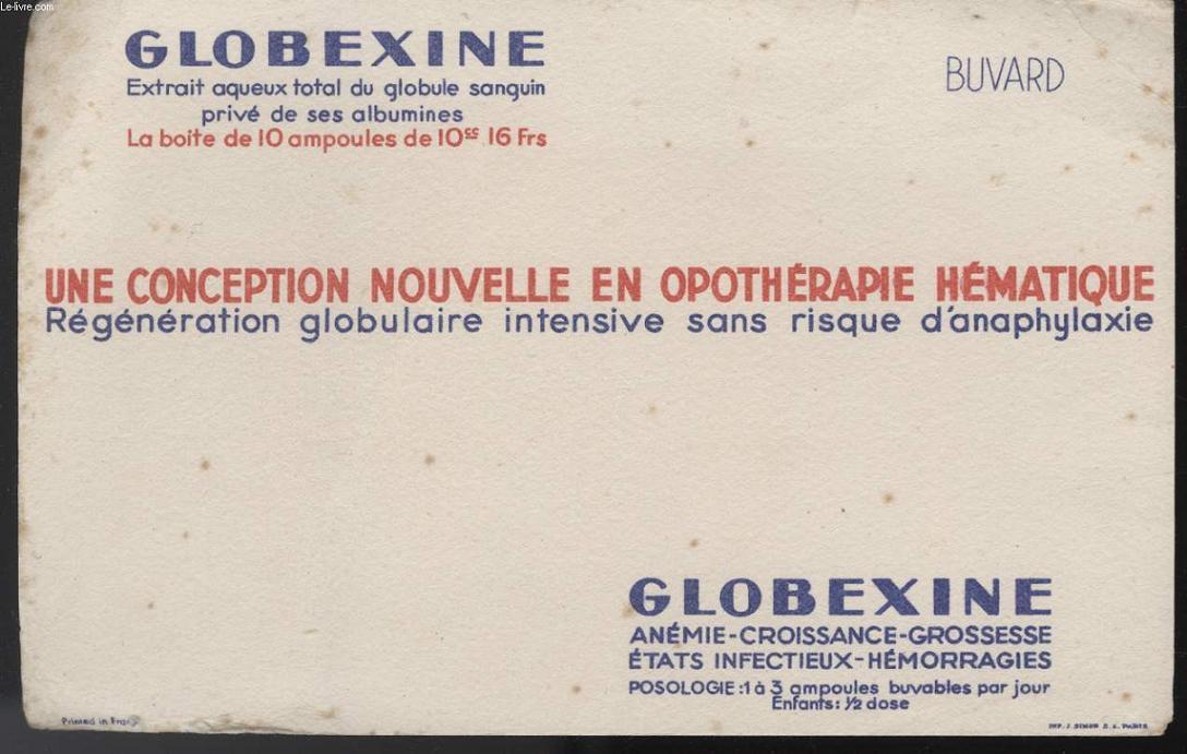 BUVARD - GLOBEXINE