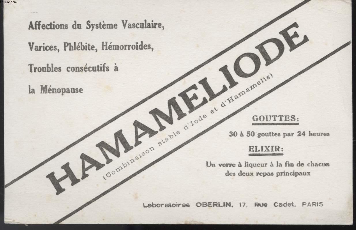 BUVARD - HAMAMELIODE