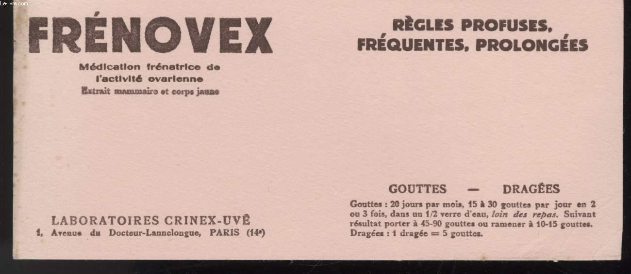 BUVARD - FRENOVEX - LABORATOIRES CRINEX-UVE