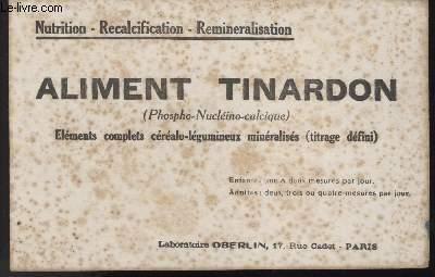 BUVARD - ALIMENT TINARDON