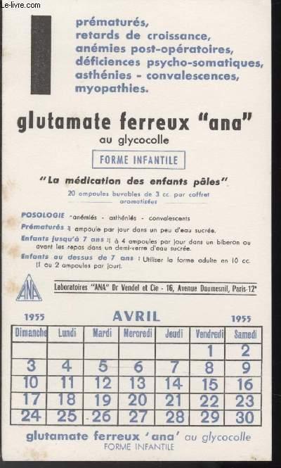 BUVARD - GLUTAMATE FERREUX