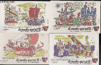 BUVARDS - 1 LOT DE 10 BUVARDS DESSINES EN COULEURS - LA NAVIGATION