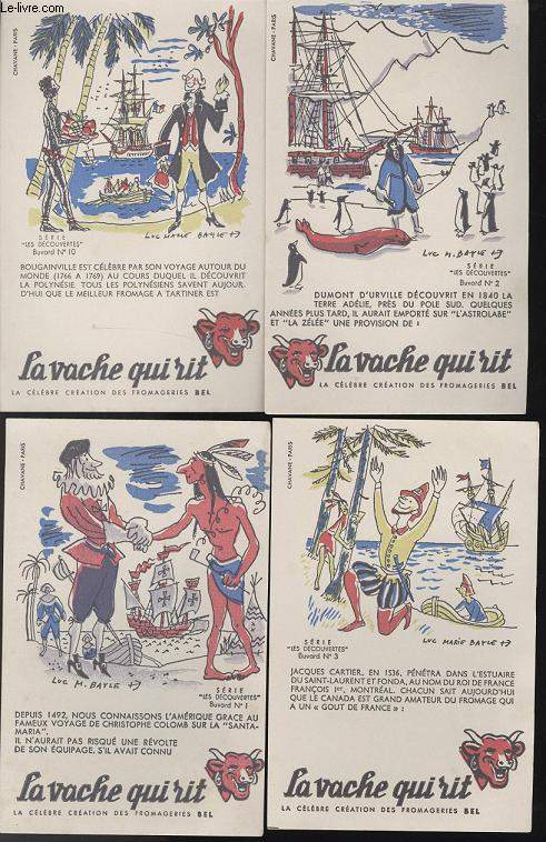 BUVARDS - 1 LOT DE 10 BUVARDS DESSINES EN COULEURS - LES DECOUVERTES
