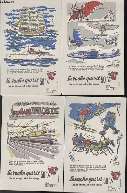 BUVARDS - 1 LOT DE 10 BUVARDS DESSINS EN COULEURS - LES TRANSPORTS