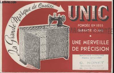 BUVARD - LA GRANDE MARQUE DE QUALITE - UNIC - FONDEE EN 1855 - UNE MERVEILLE DE PRECISION
