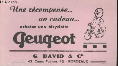 BUVARD - UNE RECOMPENSE...UN CADEAU... - G. DAVID ET CIE