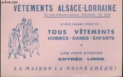 BUVARD - TOUS VETEMENTS HOMMES-DAMES - ENFANTS - LA MAISON LA MOINS CHERE!