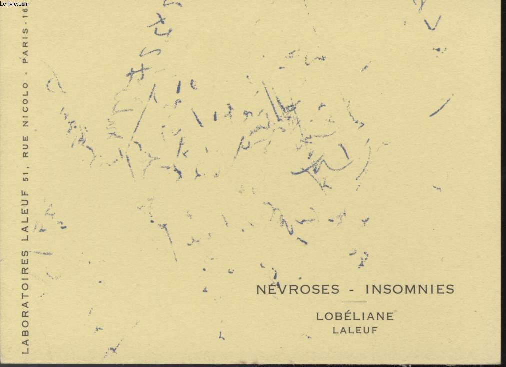 BUVARD - NEVROSES - INSOMNIES - LOBELIANE