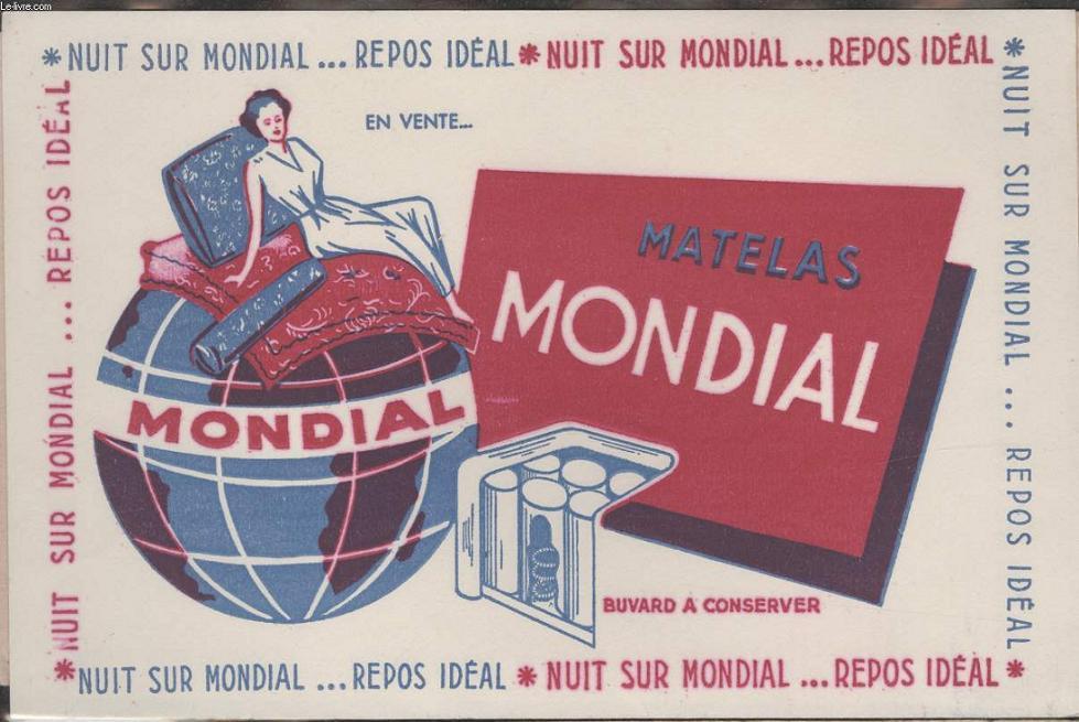 Buvard Nuit Sur Mondial Repos Ideal Matelas Mondial De