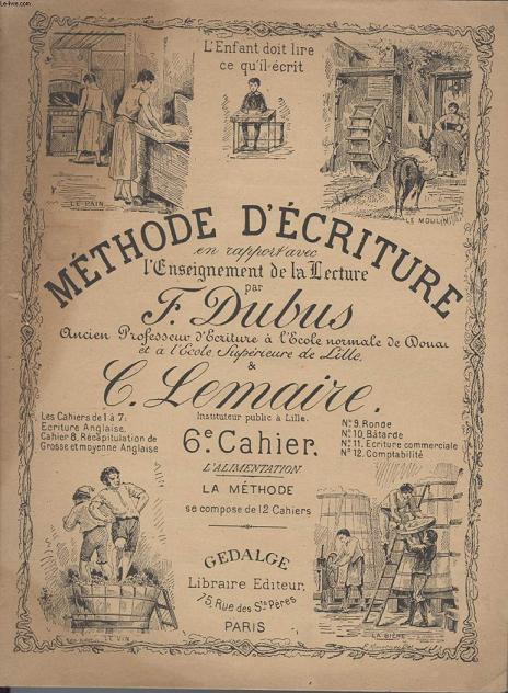 CAHIER SCOLAIRE - METHODE D'ECRITURE