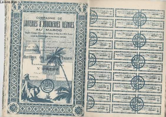 1 ACTION DE CENT FRANCS - COMPAGNIE DE LAITERIE ET BOUCHERIES REUNIES AU MAROC