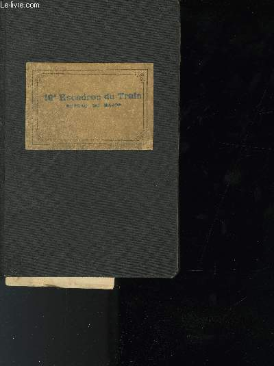DOCUMENT DIVERS -CARNET DE FOURNITURE;