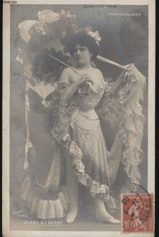 CARTE POSTALE - CLARA DU BARRY