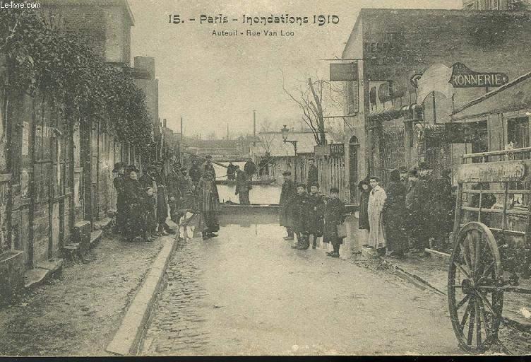 CARTE POSTALE - 15 - PARIS - INONDATION 191 - AUTEUIL - RUE VAN LOO