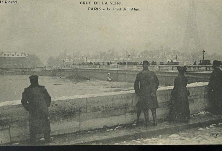 CARTE POSTALE - CRUE DE PARIS - LE MONT DE L'ALMA