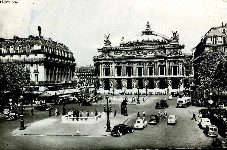 CARTE POSTALE - PARIS - PLACE DE L'OPERA