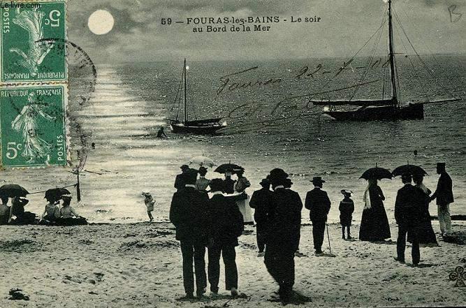 CARTE POSTALE - 59 - FOURAS LES BAINS - LE SOIR AU BORD DE LA MER