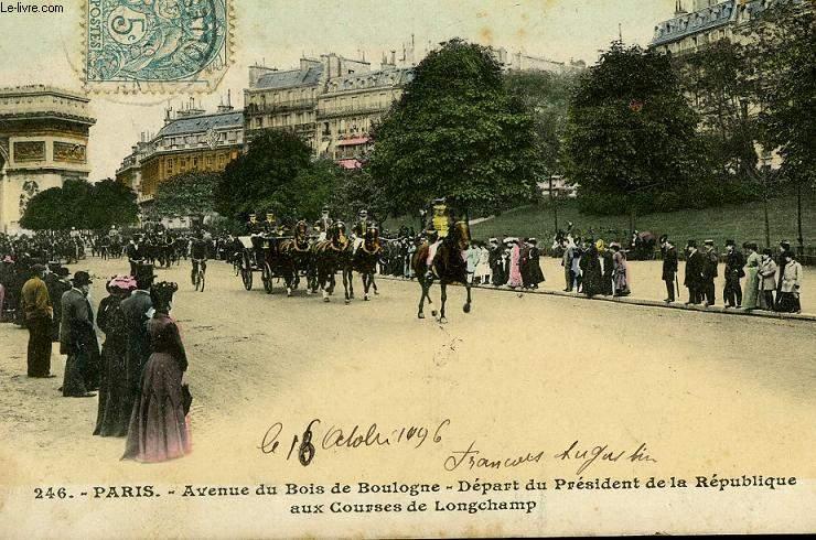 CARTE POSTALE - 246 - PARIS - AVENUE DU BOIS DE BOULOGNE