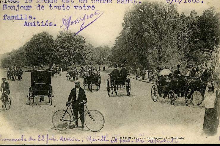 CARTE POSTALE - PARIS - BOIS DE BOULOGNE LA CASCADE