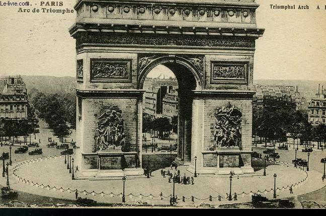 CARTE POSTALE - 2 - PARIS - ARC DE TRIOMPHE