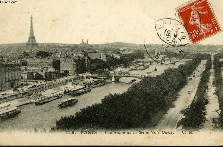 CARTE POSTALE - 149 - PARIS - PANORAMA DE LA SEINE ( COTE OUEST)