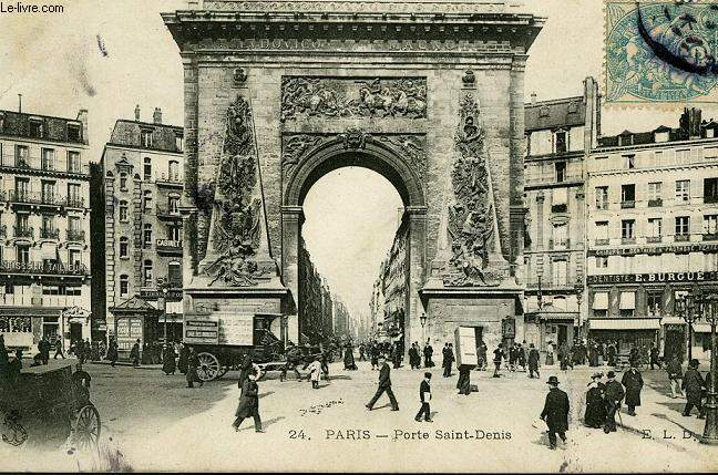 CARTE POSTALE - 24 - PARIS - PORTE SAINT DENIS