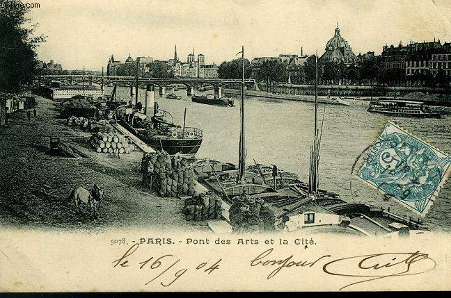 CARTE POSTALE - 5078 - PARIS - PONT DES ARTS ET DE LA CITE