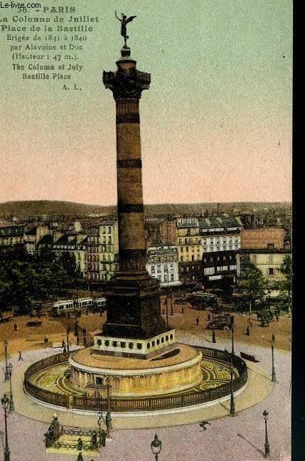 CARTE POSTALE - 36 - PARIS - LA COLONNE DE JUILLET - OLACE DE LA BASTILLE