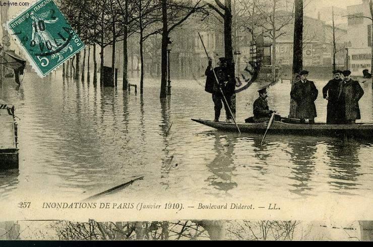 CARTE POSTALE - 257 - INONDATIONS DE PARIS - BOULEVARD DIDEROT
