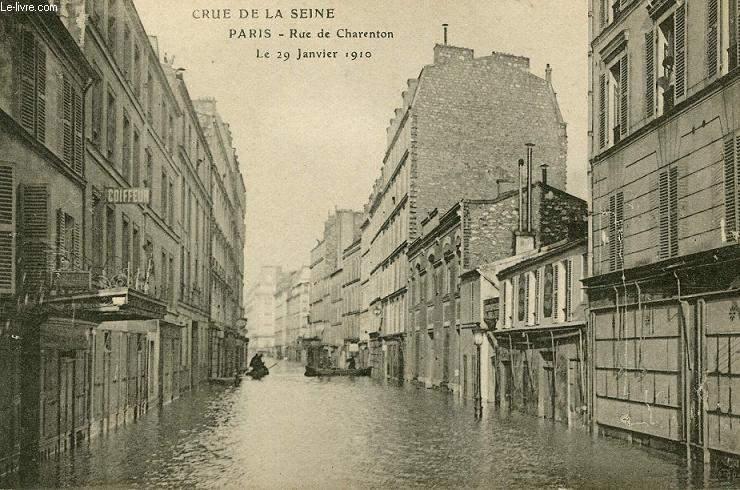 CARTE POSTALE - CRUE DE LA SEINE - RUE DE CHARENTON