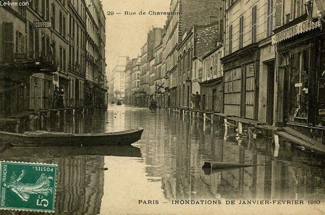 CARTE POSTALE - 29 - RUE DE CHARENTON - PARIS - INONDATION DE JANVIER-FEVRIER 1910