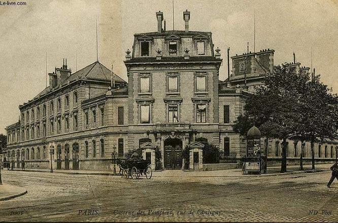 CARTE POSTALE - 1001 - PARIS - CASERNE DES POMPIERS, RUE DE CHALIGNY